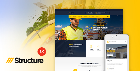 Structure - Construction WordPress Theme - Home & Family