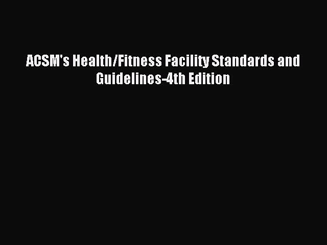 4th edition certification pdf acsm review